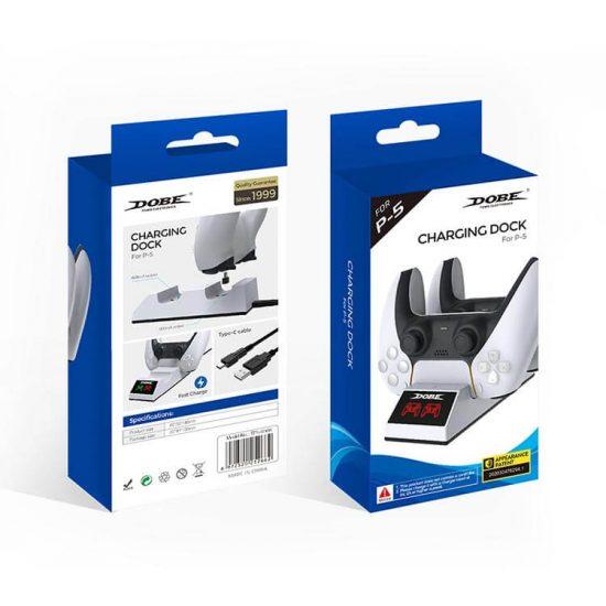 خرید پایه شارژر Dobe مدل TP5-0508 برای ps5 | خرید شارژر دسته ps5